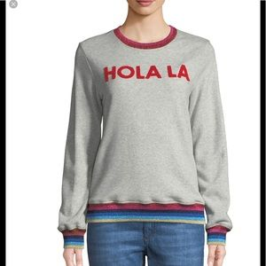"TRINA TURK ""HOLA LA"" SWEATSHIRT XL"